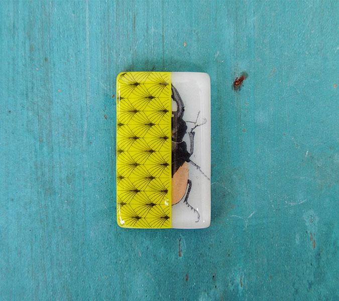 design insetto-spilla in vetro | Maria Scarognina